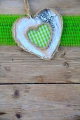 Grußkarte - Karo Herz