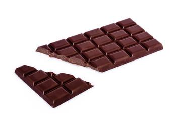 chocolate bar with broken bit