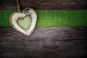 Hintergrund - Karo Herz - grün