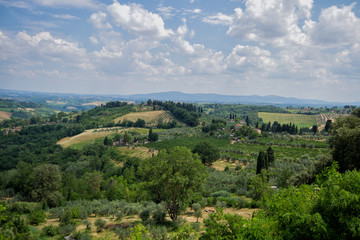 View of Tuscany from San Gimignano, Italy