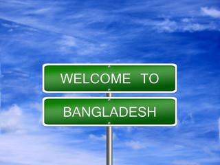 Bangladesh Welcome Travel Sign