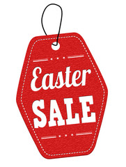 Easter sale label or price tag