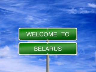 Belarus Welcome Travel Sign
