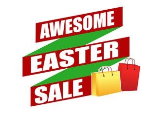 Awesome Easter sale banner design