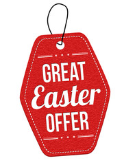 Great Easter offer label or price tag