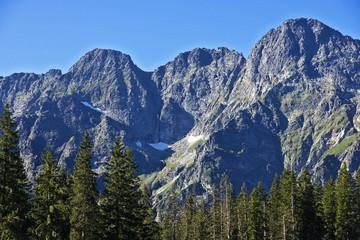 High peaks in the Polish Tatras mountains