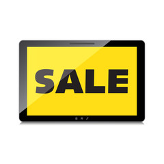 Sale, markdown, discount on High-quality tablet screen. Reduced