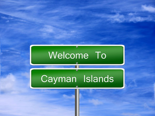 Cayman Islands Travel Sign