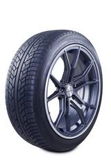 Black tire with racing rim