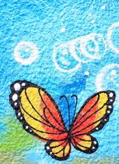 Butterfly graffiti-Donostia