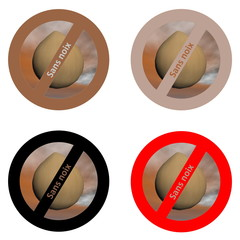 French stickers for nut free products