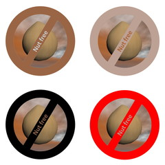 Stickers for nut free products