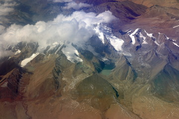 Aerial view of the lesser tibetan Himalayas. 1135