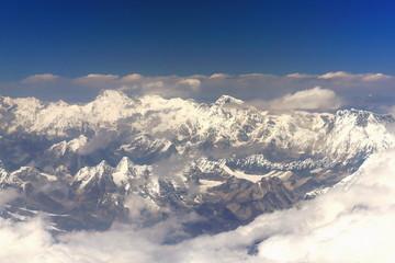 Cho Oyu-Ngozumpa I II III-Gyachung-Nuptse airview. Nepal. 1120