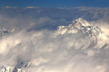 Several himalayan peaks aerial view. Nepal. 1118