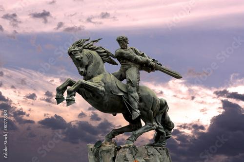 Staande foto Standbeeld Yerevan, monument David of Sasun - hero of the Armenian epos