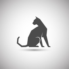 silhouette of a cat icon