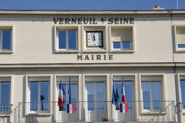 France, the picturesque village of Verneuil sur Seine
