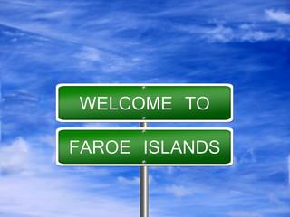 Faroe Islands Travel Sign
