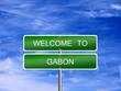 Постер, плакат: Gabon Welcome Travel Sign