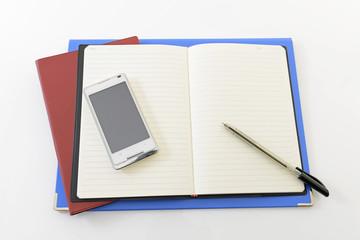 スマートフォンと筆記用具