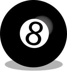 illustrazione vettoriale di una palla 8 da biliardo