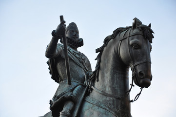Plaza Mayor de Madrid, España, Felipe III, Pietro Tacca