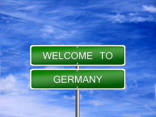 Germany Welcome Travel Sign