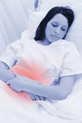 Woman sleeping in the hospital