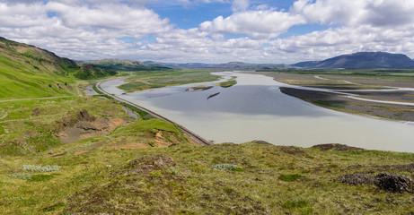 Icelandic landscape panorama