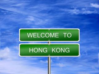 Hong Kong Travel Sign