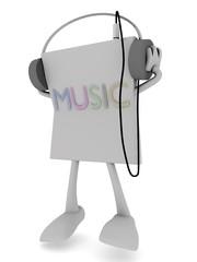 3d Rendering eines Musicplayers