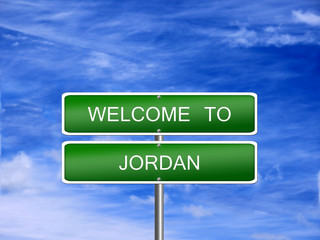 Jordan Welcome Travel Sign