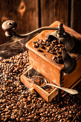 Aroma of fresh coffee grains