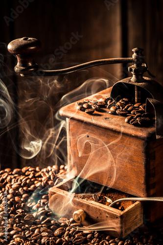 Aroma of fresh ground coffee