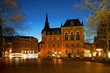 Leinwanddruck Bild - Oldenburg Rathaus Innenstadt Marktplatz Lamberti Kirche