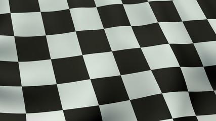 4K UltraHD Loopable waving checkered flag animation