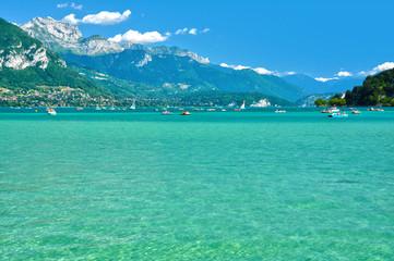 Lago de Annecy, Alta Saboya, Ródano-Alpes, Francia