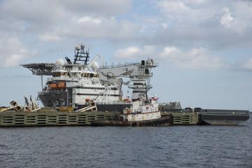 Olympic Boa alongside Port of Pensacola Florida USA