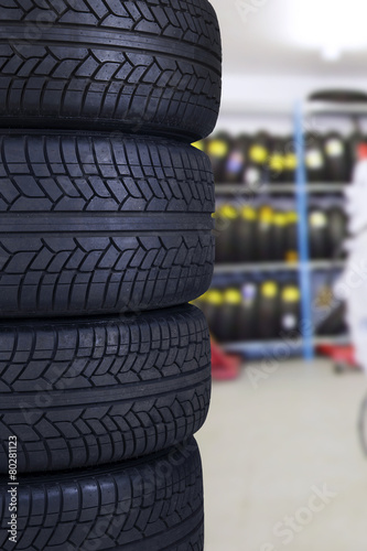 Tires in the spare parts store - 80281123