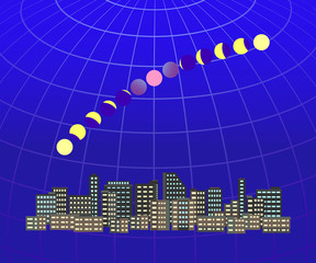 皆既月食 都市風景2