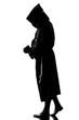man monk priest silhouette praying - 80281911