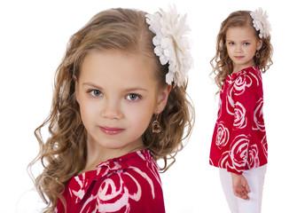 Collage, blonde little girl