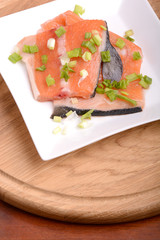 salmon filet with fresh herbs