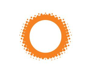 Orange Dot Halftone