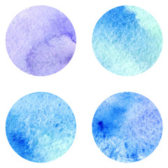 Watercolor vector background texture circle winter frost