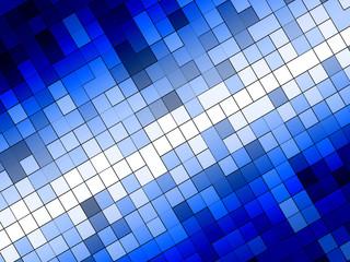 青のモザイク模様
