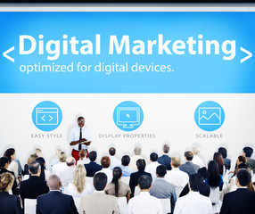 Business People Digital Marketing Presentation Concept