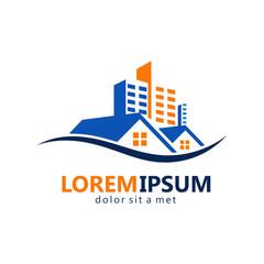 realty modern building logo