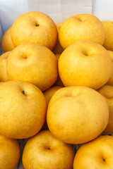 Chinese pear in market